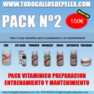 PACK 2 GALLOS DE PELEA