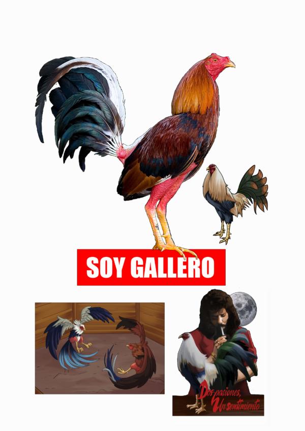 pegatinas gallos de pelea