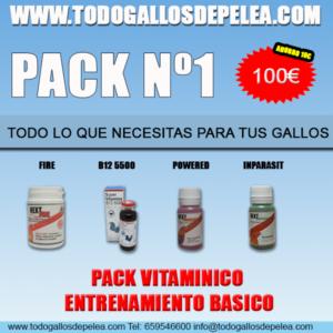 pack 1 gallos de pelea