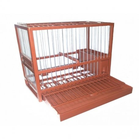 Jaula-reclamo-c2-marron-modelo-hila---jaulas-para-jilgueros