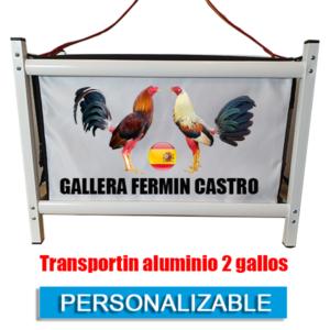 TRANSPORTIN GALLOS DE PELEA PERSONALIZABLE PERSONALIZADO