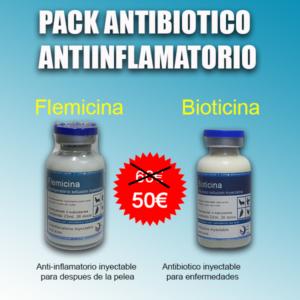 pack antibiotico y antiinflamatorio gallos de pelea